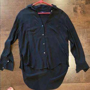 Madewell  100% silk black shirt